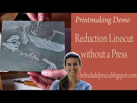 How to make a Reduction Linocut - 6-color relief print
