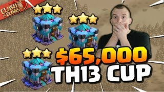 🔴 OFFICIAL TH13 CUP - $65,000 for the Winner (Clash of Clans)