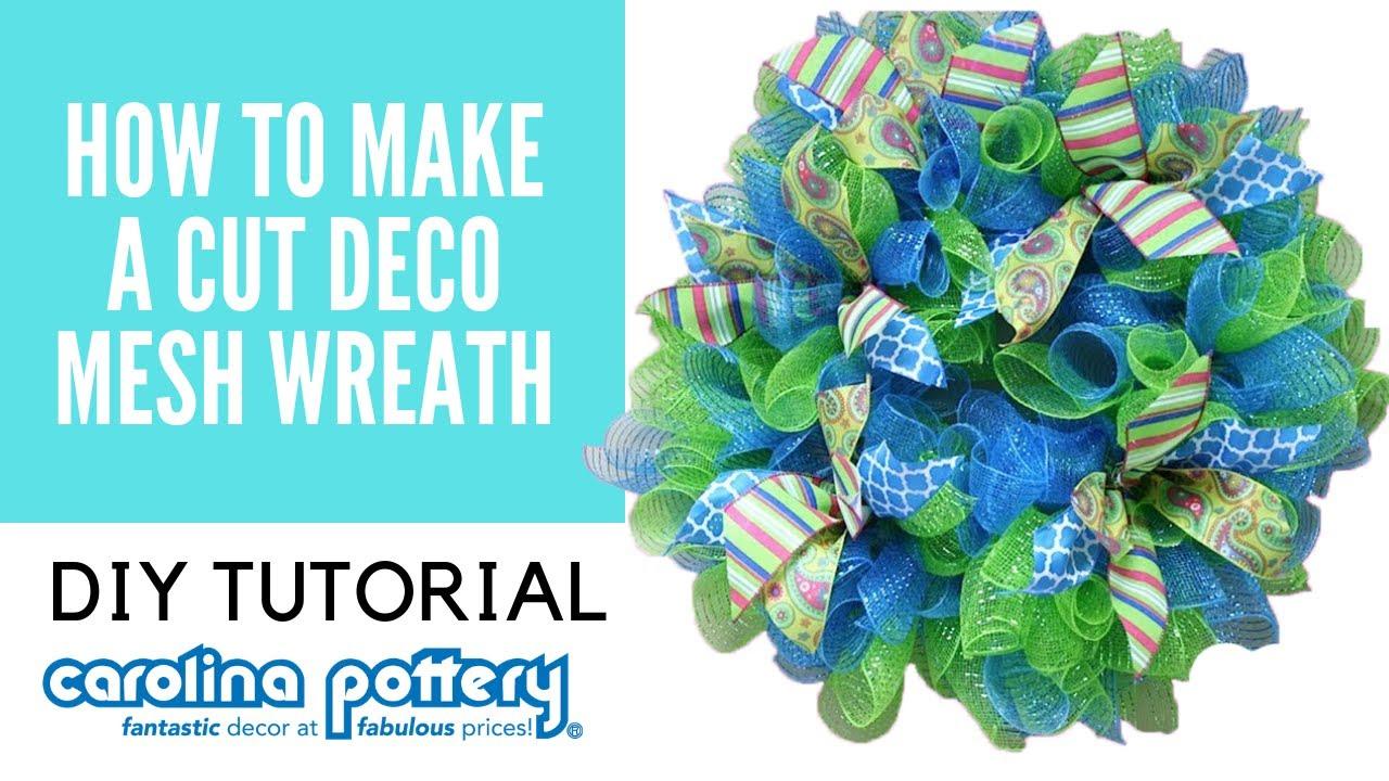 How To Make A Cut Deco Mesh Wreath Carolina Pottery