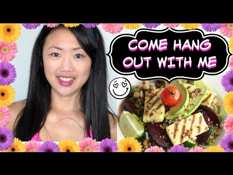 ♥DAY IN MY LIFE | AMAZING SALAD RECIPE (Eating Leftovers From Extra Food Prepping)