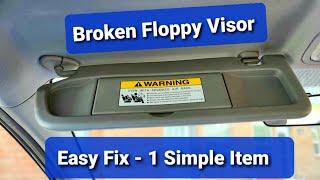 Repairing Floppy Sun Visor with Binder Clip - Honda Civic