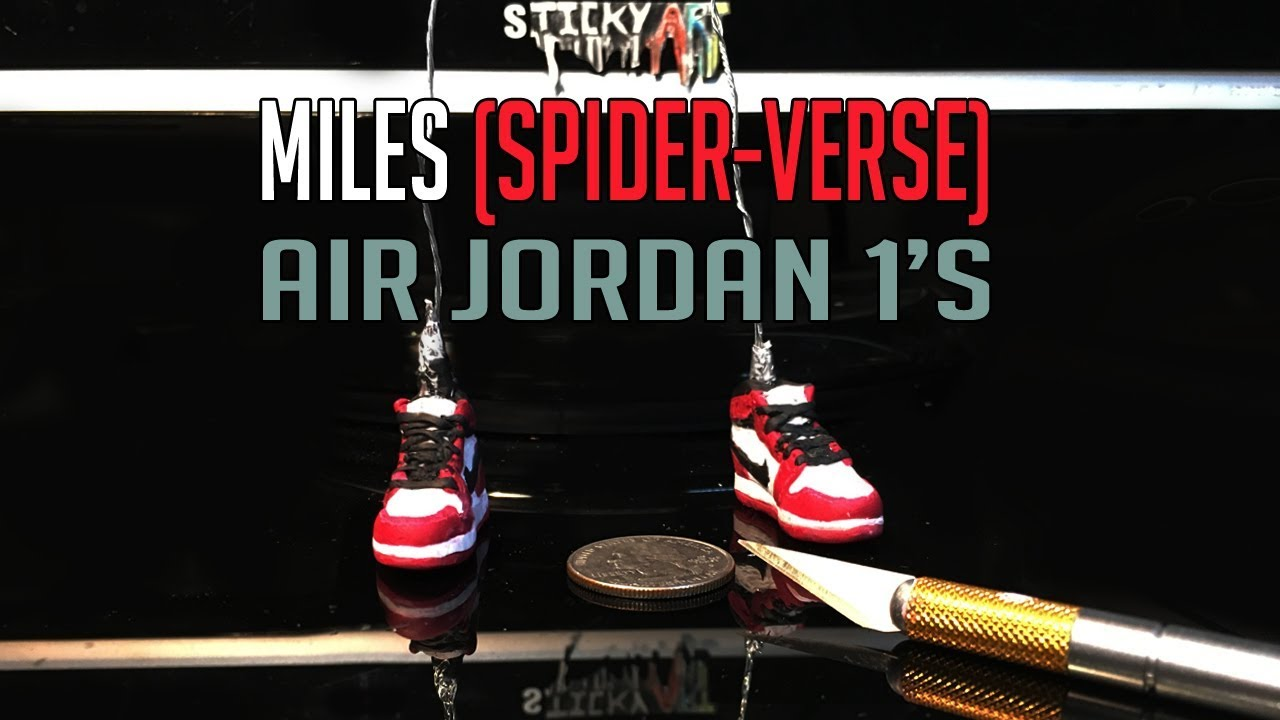 34794d3dba9bd6 Making Miles Morales Air Jordans from Polymer Clay (Teaser) - YouTube