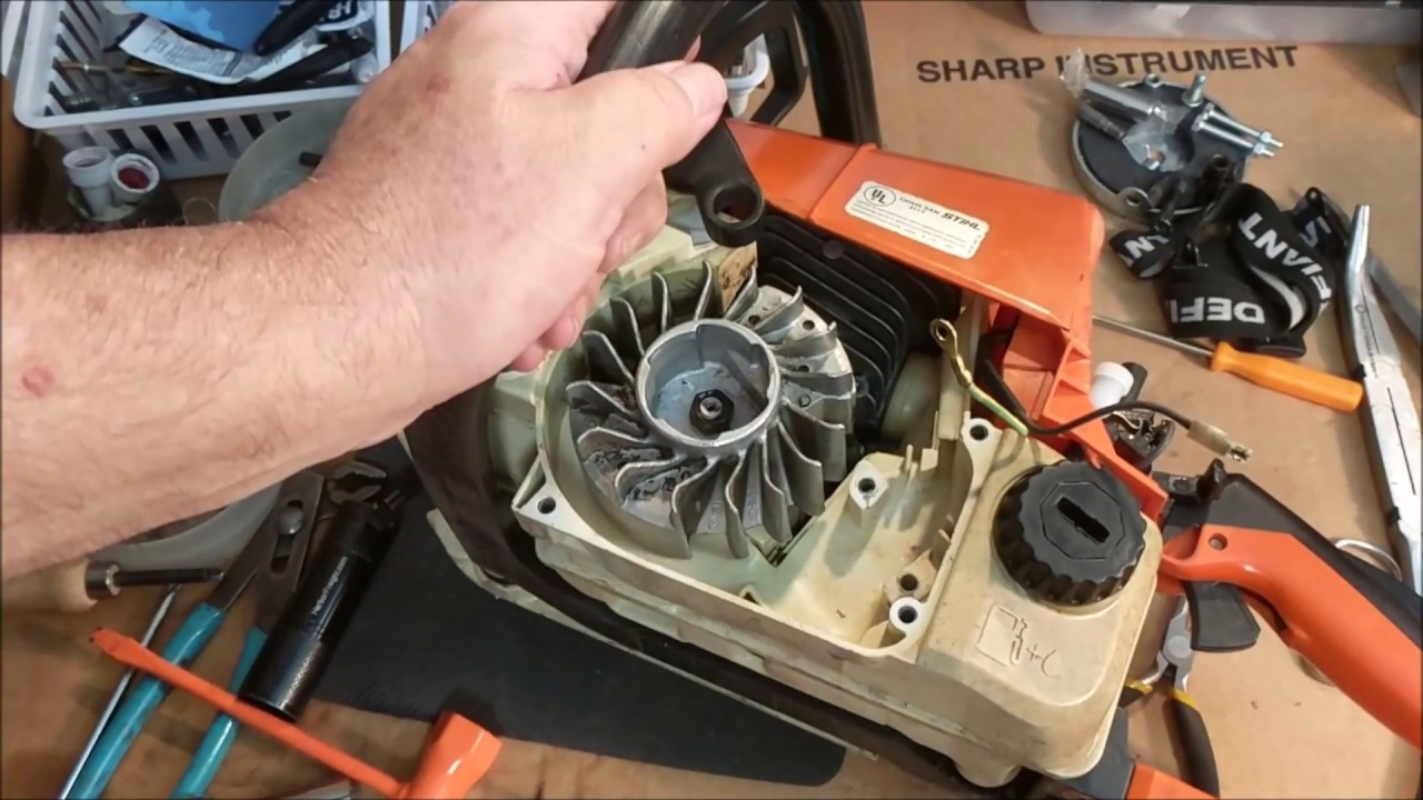Stihl 025 2nd Rebuild Testing Wiring  Flywheel Install