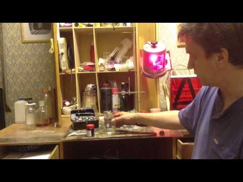 Приготовление раствора нитрата серебра для амбротипа