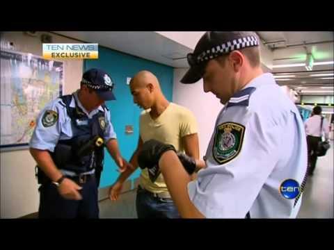 Ten News Sydney - CityRail Drug Detection dogs (5/3/2013)