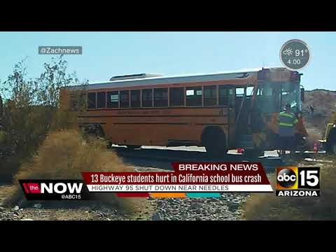 Buckeye students hurt in California bus crash