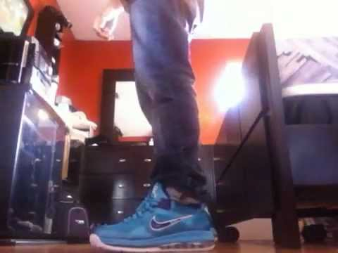 detailed look 62571 ec91d Lebron 9 Summit Lake Hornets Low on feet - YouTube
