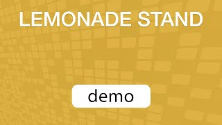 GoVenture Lemonade Stand v2.0 (Demo Video)