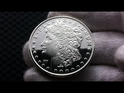 Hd Generic Silver Round Morgan Dollar Design Vs