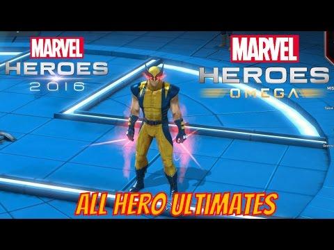 Marvel Heroes Omega - All 62 Heroes Ultimates Unlocked