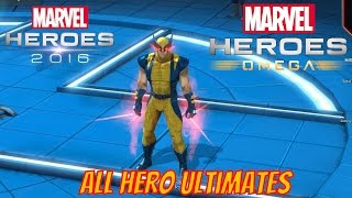 Marvel Heroes Omega - All 62 Heroes Ultimates Unlocked