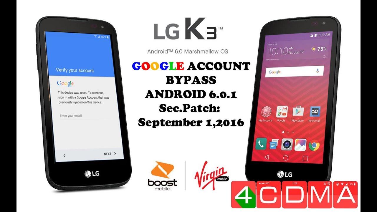 LG K3, K7, K8 Bypass Google Account FRP! Fast, No OTG, PC!!! Sec  Patch  09/01/2016