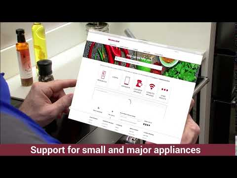 KitchenAid Service And Support Website.