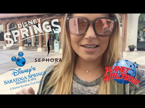 DISNEY SPRINGS VLOG | SARATOGA SPRINGS ROOM TOUR | BRAND NEW PLANET HOLLYWOOD | FEBRUARY 2017