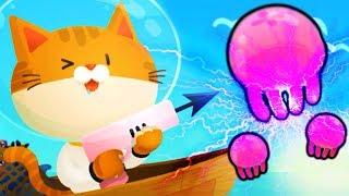 ПОДВОДНЫЙ КОТЕНОК РЫБОЛОВ симулятор маленького котенка подводного рыболова веселый летсплей от #фгтв