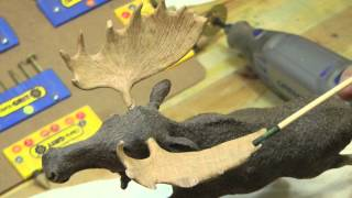 Rod Deon Wood Carving - Bull Moose In The Snow Using Duragrit Carbide Rotary Tools