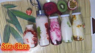 Cách làm Sữa Chua Lắc Trái Cây, hay còn gọi là sữa chua nước hoa quả