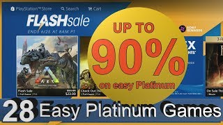 PS4 NA FLASH SALE   28 Easy & Cheap Platinum Games   Save up to 90%   ends 25/06/2018