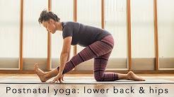 Postnatal yoga flow: lower back & hips 10min