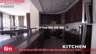 The Executive Tower, Business Bay- Furnished Studio Apartment -Burj Khalifa View For Rent - Dubai