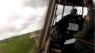 BEST FOOTAGE EVER!!! C-130 Landing at Cherbourg France in 1080p HIGH DEF