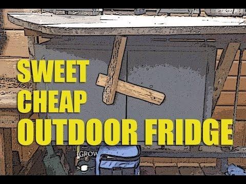 Sweet (u0026 Cheap) Outdoor Fridge From An Old Cupboard