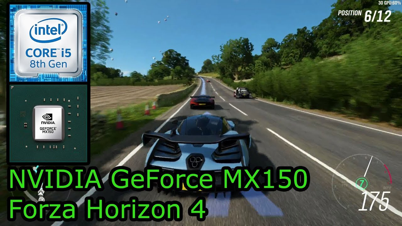 NVIDIA GeForce MX150 - Forza Horizon 4 - HP Envy x360 15 bp100na