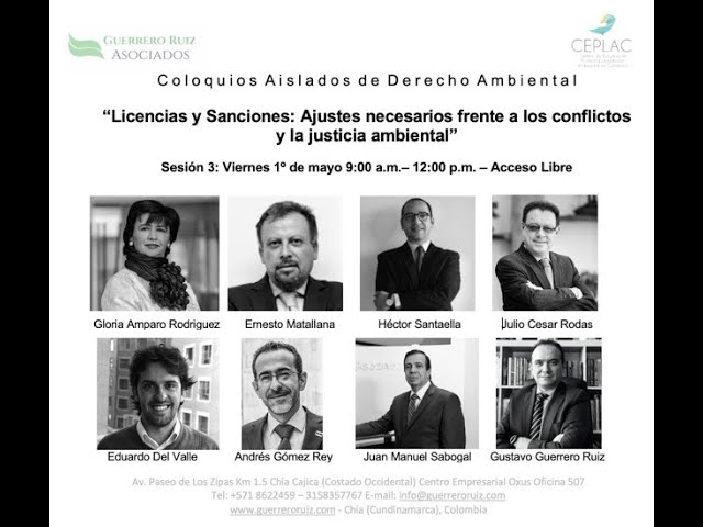 """Video de la Sesión 3 de los Coloquios Aislados de Derecho Ambiental """"Licencias y Sanciones"""""""