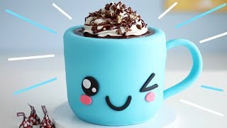 CUTEST Hot Chocolate CAKE that Tastes like HOT CHOCOLATE!