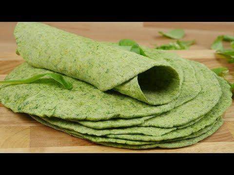 Spinat Tortillas I Perfekt für Wraps, Enchiladas, Quesadillas und vieles mehr
