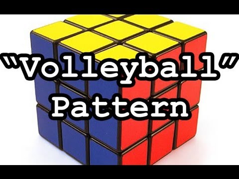 rubik s cube 3x3x3 pattern volleyball youtube