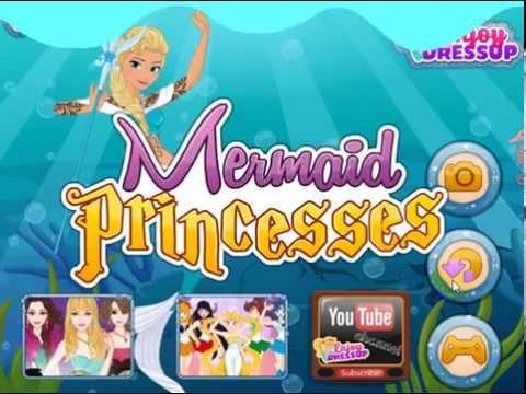 Русалки. Принцессы Дисней. Игры одевалки для девочек. Барби игры. Игры русалки.