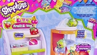 Shopkins Easy Squeezy Fruit And Veg Stand Playset ★ For Kids Worldwide ★