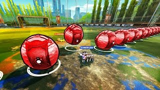 One of Woofless's most viewed videos: ROCKET LEAGUE CUSTOM DODGE BALL!