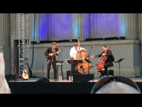 Yo yo Ma, Edgar Meyer, Chris Thile at the Greek play Bach at UC Berkeley