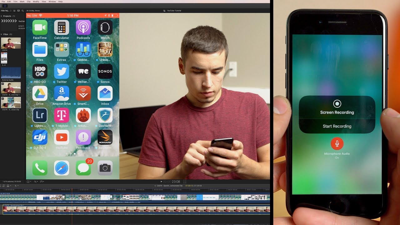 9eada672f6997 How to Embed iPhone Screen Recording into a video! - YouTube