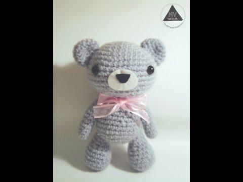 Amigurumi Valentine Teddy Bear Part Two : Capucha de Osito CROCHET TUTORIAL FunnyCat.TV