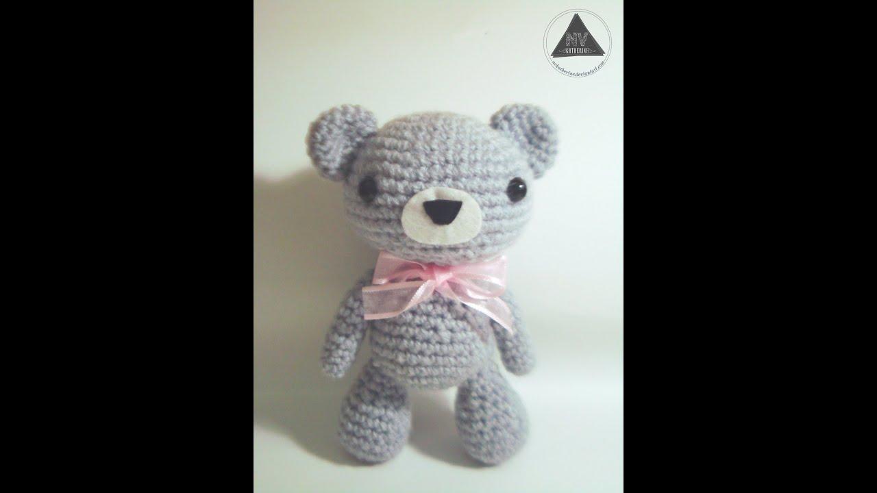 How To Crochet A Kawaii Bear Amigurumi Tutorial [Part 1/2