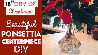 Beautiful DIY Poinsettia Centerpiece | 18th Day of Christmas 2015!