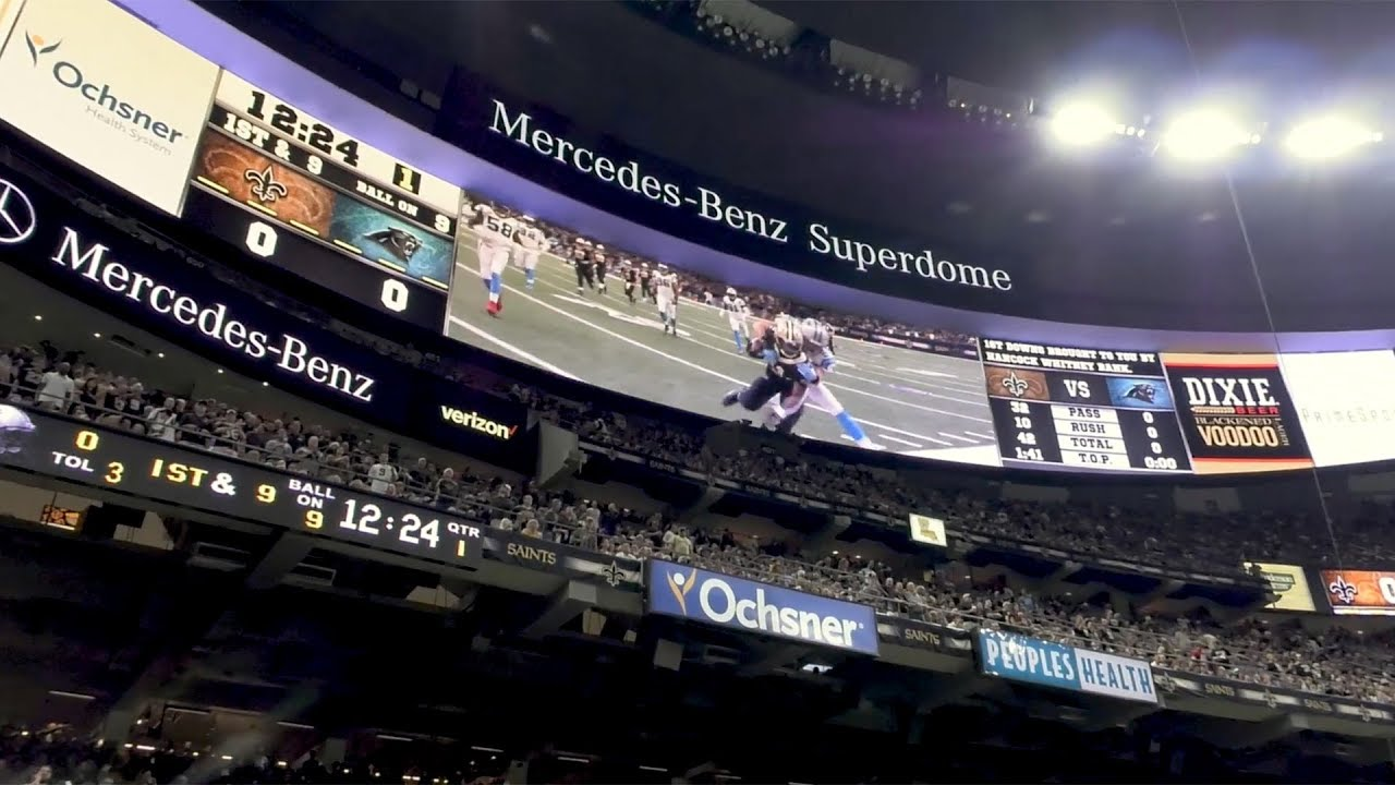 New orleans saints suite rentals will cost, on average, between $10,000. Mercedes Benz Superdome Longest Display Boards In The Nfl Engaging Fans And Sponsors Youtube