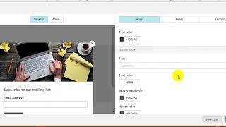 настройка попап формы подписки в Mailchimp  Всплывающее окно