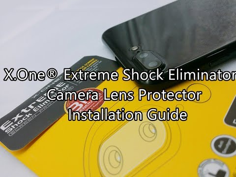 X.One® Extreme Shock Eliminator Camera Lens Protector Installation Guide
