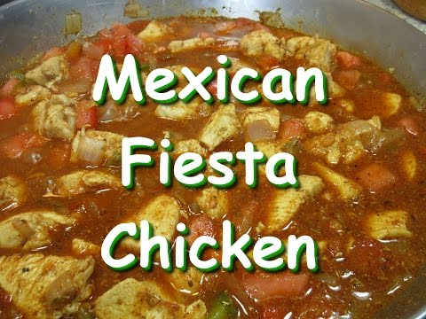 Creamy Mexican Fiesta Chicken Recipe ~ One Pot Chicken Dinner