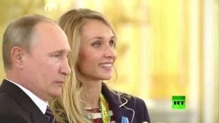 بوتين يكرم الفريق الأولمبي الروسي