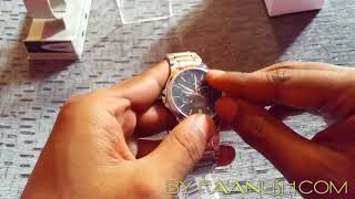 Casio original wrist watch MTP V300D 1AUDF video review