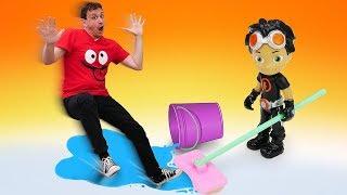Video per bambini. La stazione di servizio giocattolo. Giochi e cartoni animati educativi