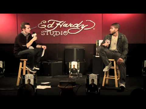 Usher - Interview (Live @ Ed Hardy Studios) pt. 2