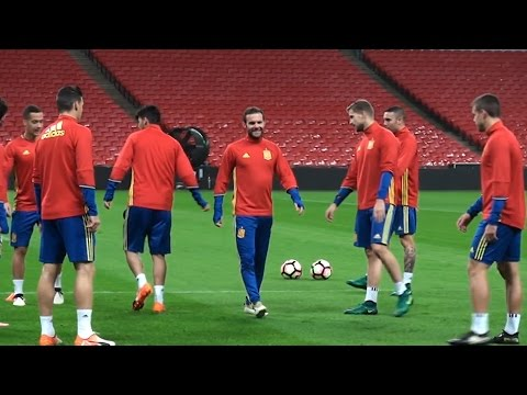Spain Players Train At Wembley Ahead Of Their International Friendly Match With England
