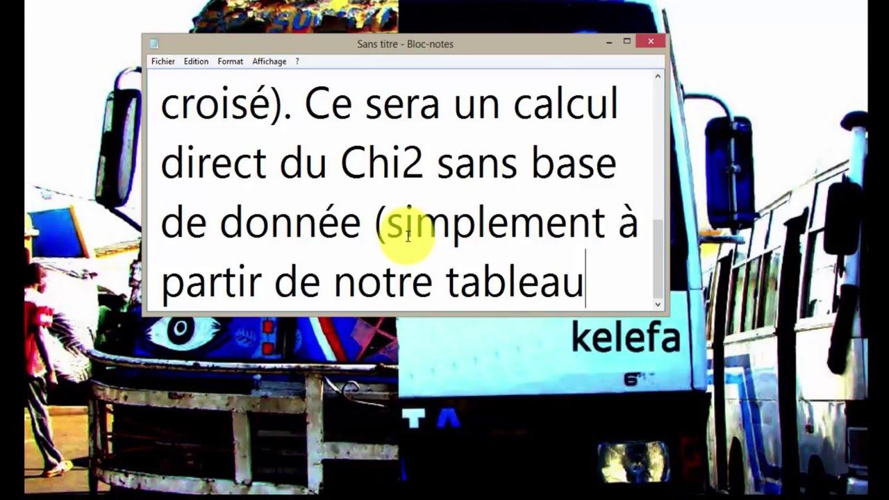 Calcul du khi2 (chi2) (à partir du tableau de contingence) avec Stata - YouTube