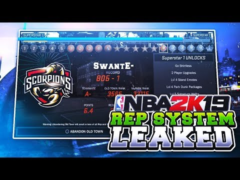 NBA 2K19 REP SYSTEM FINALLY CONFIRMED!(LEAKED) ALL CONFIRMED ARCHETYPE & TAKEOVER NEWS!